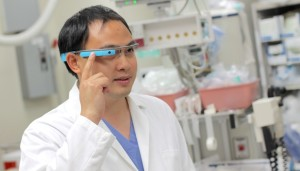 Dr. Peter Chai, a medical toxicology fellow at UMass Medical School, helps conduct research on the use of Google Glass for remote toxicology consultations.